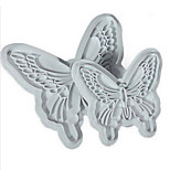 2Pcs/set Butterfly Shape Fondant Cake Decorating Plastic Cutter Embossing Cake Mould Sugarcraft Plunger Decor Press Mold