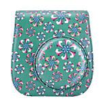 flor de trombeta saco de capa de couro pu para Fujifilm Instax mini-câmera de 8 filme instantâneo, verde
