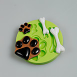 Dog Paws Bones Silicone Molds Fondant Cake Decoration Sugarcraft Tools Polymer Clay Fimo Chocolate Candy Soap Making