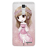 Cartoon Painting  TPU Soft for OPPO R7s Plus(Cherry Blossom Girl)