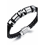 Hologram Bracelet 1pc,Black Bracelet Fashionable Circle  Leather Jewellery