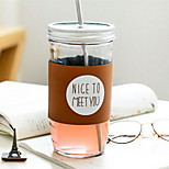 Creative Straw Glass Cup for Coffee