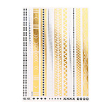 1pc Temporary Flash Metallic Tattoo Gold Silver Bracelet Jewelry Waterproof Tattoo Sticker YH-076