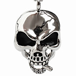 Skulls Supersize Titanium Steel Pendants, Sweater Necklace(Excluding Chain)
