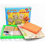 Observing Children's Toys Wooden Checkers Flight Chess Backgammon Set Chess Queen Puzzle Pieces with Board