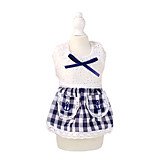Cat / Dog Dress Red / Blue Summer / Spring/Fall Plaid/Check / Bowknot Plaid-Petstyle, Dog Clothes / Dog Clothing