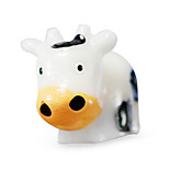 Warm Garden Moss Micro Landscape Jewelry Doll DIY Toy Trumpet Cow Ornaments White Cow