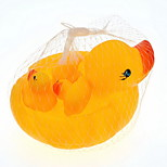 Bath Toy Yellow Duck Squeeze Toy 1 Big 3 Small