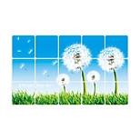 ay3004 Dandelion Wall Decal Florals Anti-Oil Sticker Wall Stickers Plane Wall Stickers,vinyl 45*75cm