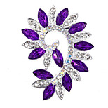 Bride Wedding Flower Rhinestone Brooches for Women Jewelry Accessories