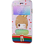 Full Body Auto Sleep/Wake Up Cartoon PU Leather Hard Case Cover For Apple iPhone 6s Plus/6 Plus / iPhone 6s/6