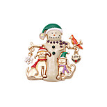 Fashion Women Cute Enamel Christmas Metal Brooch