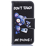 Bear Pattern Card Phone Holster for iPhone 5/5S/SE/6/6S/6 Plus/6S Plus