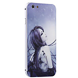 Tattoo Girl Pattern Metal Frame PC painted  Hard Case for iPhone6/6s/6 Plus/6s Plus