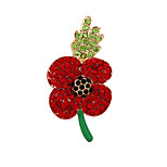 Fashion Poppy Brooches for Women