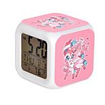 Cartoon Pet Colorful Luminous Alarm Clock-9#