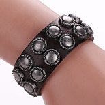 Leather Bracelet With Rivet Punk Wristbands Exaggerated Personality  Leather Bracelet