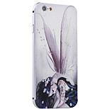 Wing Girl Pattern Metal Frame PC painted  Hard Case for iPhone6/6s/6 Plus/6s Plus