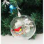 Carnival Christmas Decorations 10Cm Transparent Plastic Ball Snowman Christmas Window Decoration Ball Christmas Ball