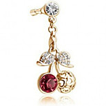 B004 Crystal Cherry Mobile Phone Pendant (Color Random)