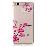 TPU + IMD Material Peach Blossom Pattern Slim Phone Case for Huawei P9 Lite/P9/P8 Lite/Y625