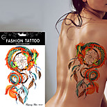 5Pcs Waterproof Dreamcatcher Tattoo Dragon Feather Decal Temporary Tattoos Sticker