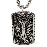 The Cross Pendant Necklace in Titanium Card