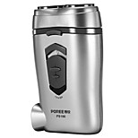 Electric Shaver Men Face Electric / Rotary Shaver Pivoting Head / LED Light Stainless Steel POREE