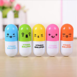 Lovely Expression Pills Ballpoint Fun Writing Stationery Cartoon Art Students Retractable Pen