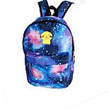 Pocket Little Monster Pika Pika Galaxy Night Luminous Flourescent Canvas Backpack Bag