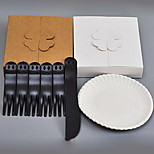 Disposable Cake Cutlery Tray Sets (1Knife 5Forks 5 Disc)