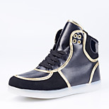 Men's Shoes Colorful LED Shoes Comfort / Round Toe /  Party& Outdoor / Casual Shoes