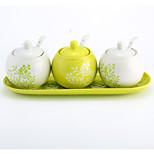 Ceramic Dressing Pots   Green