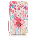 PU Leather Material 3D Painting Balloon Bear Pattern Phone Case for  iPhone 6s Plus / 6 Plus/6S/6/SE / 5s / 5