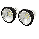 5W GU10 Focos LED MR16 9 SMD 2835 450 lm Blanco Fresco Decorativa AC 100-240 V 2 piezas