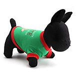 Gatti / Cani T-shirt Verde Primavera/Autunno Natale Natale, Dog Clothes / Dog Clothing-Other