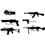 Fashion The Gun CombinationPattern PVC Bathroom or Bedroom or Glass Wall Sticker Home Decor
