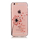 de volta Transparentes / Other Other TPU Macio High Purity / Openwork / Translucent Case Capa Para AppleiPhone 6s Plus/6 Plus / iPhone