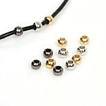 beadia 300pcs 4 mm redondo grande CCB agujero de plástico acrílico espaciador suelta perlas de oro&bronce&rodio plateado (agujero
