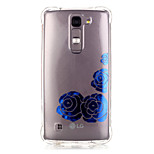 TPU Material Blue Rose Pattern Bronzing Phone Case for LG K10/K8/K7