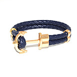 Fashion Men's Bracelet PU Anchor Leather Bracelet Alloy Bracelet Chain Bracelets / Wrap Bracelets Daily / Casual 1pc