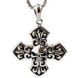 Cross Nightclub Skulls, Men'S Titanium Steel Pendant Necklace(Not Including Chain)