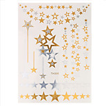 1pc Water Transfer Star Flash Metallic Women Hair Body Art Temporary Tattoo Jewelry Charm Sticker HT308