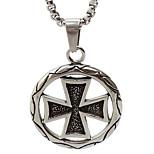 World War II Titanium Necklace Pendant Retro Cross