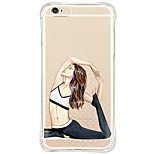 Waterproof/Transparent Sexy Lady TPU&Silicone Soft Shockproof Case Cover For Apple iPhone 6s Plus/6 Plus/6s/6/5s/5/SE