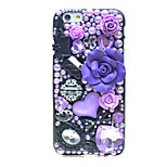 Back Rhinestone Other PC Hard Purple Lip Case Cover For Apple iPhone 6s Plus/6 Plus / iPhone 6s/6