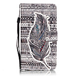 PU Leather Material 3D Painting Tribal Feather Pattern Phone Case for Huawei P9 Lite