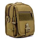 8 L Bike Saddle Bag / Cycle Bag Camping & Hiking Outdoor Waterproof / Shock Resistance Khaki Nylon