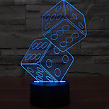 anteresting illusion tridimensionnelle lampe de table lumineuse tamis de nuit conduit 3d