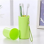 Candy Colors Portable Travel Wash Cup Toothbrush Toothpaste Storage Box 4 Color Options A144